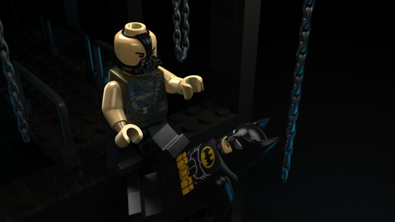 Dark Night Lego Final With Final Lighting Setup
